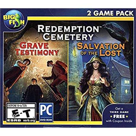 BIG FISH GAMES Redemption Cemetery GRAVE TESTIMONY + SALVATION OF THE LOST Hidden Object PC - New Halloween Hidden Object Games