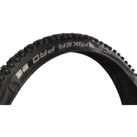 "Schwalbe Ice Spiker Pro Folding Winter Clincher Studded Lite Skin 67TPI 26-54PSI Tire, Black, 29"" x 2/3"