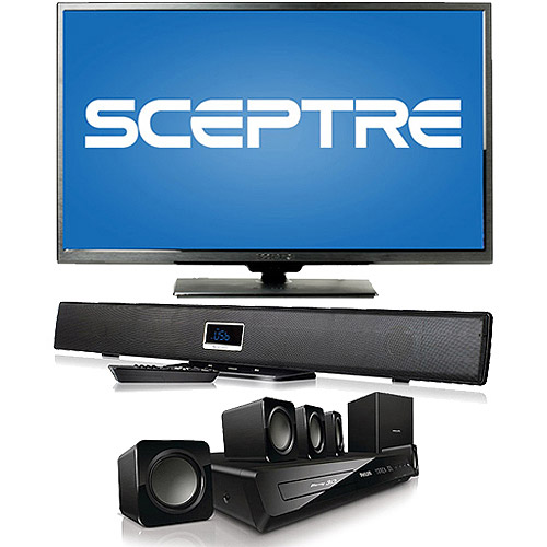 Sceptre X505BV-FMDR 50; 1080p 60Hz LED HDTV with Home Theater System or