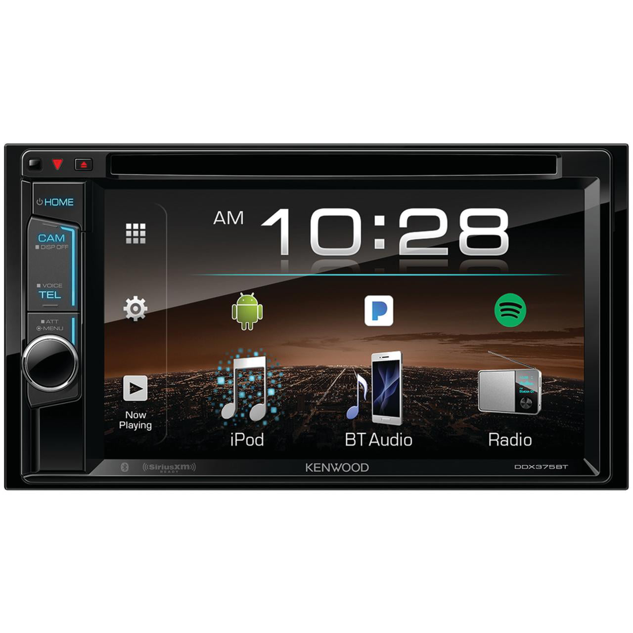 "Kenwood DDX375BT 6.2"" Double-Din In-Dash DVD Receiver With Bluetooth & SiriusXM Ready by Kenwood"