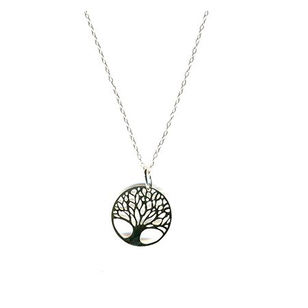 Sterling silver tree of life necklace walmart sterling silver tree of life necklace aloadofball Choice Image