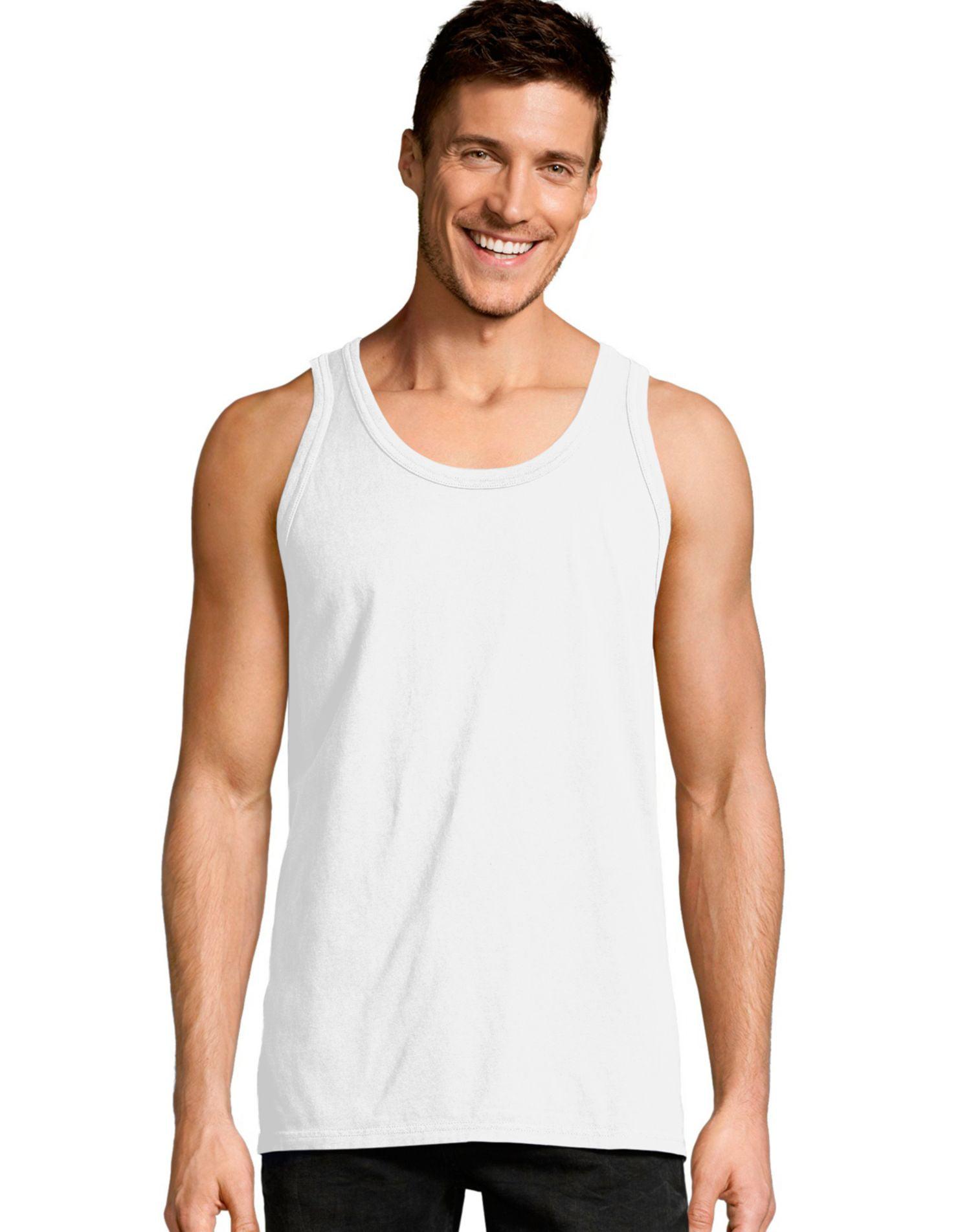 Hanes Mens ComfortWash Garment Dyed Sleeveless Tank Top, XL, Saltwater