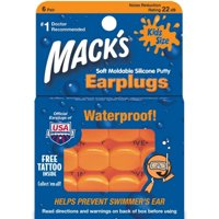 Mack's Kids Size Soft Moldable Silicone Ear Plugs 6 ea