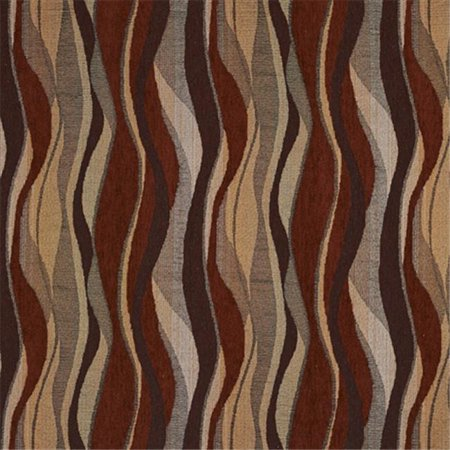Designer Fabrics F531 54 in. Wide Red, Gold And Grey, Abstract Striped Chenille Upholstery Fabric