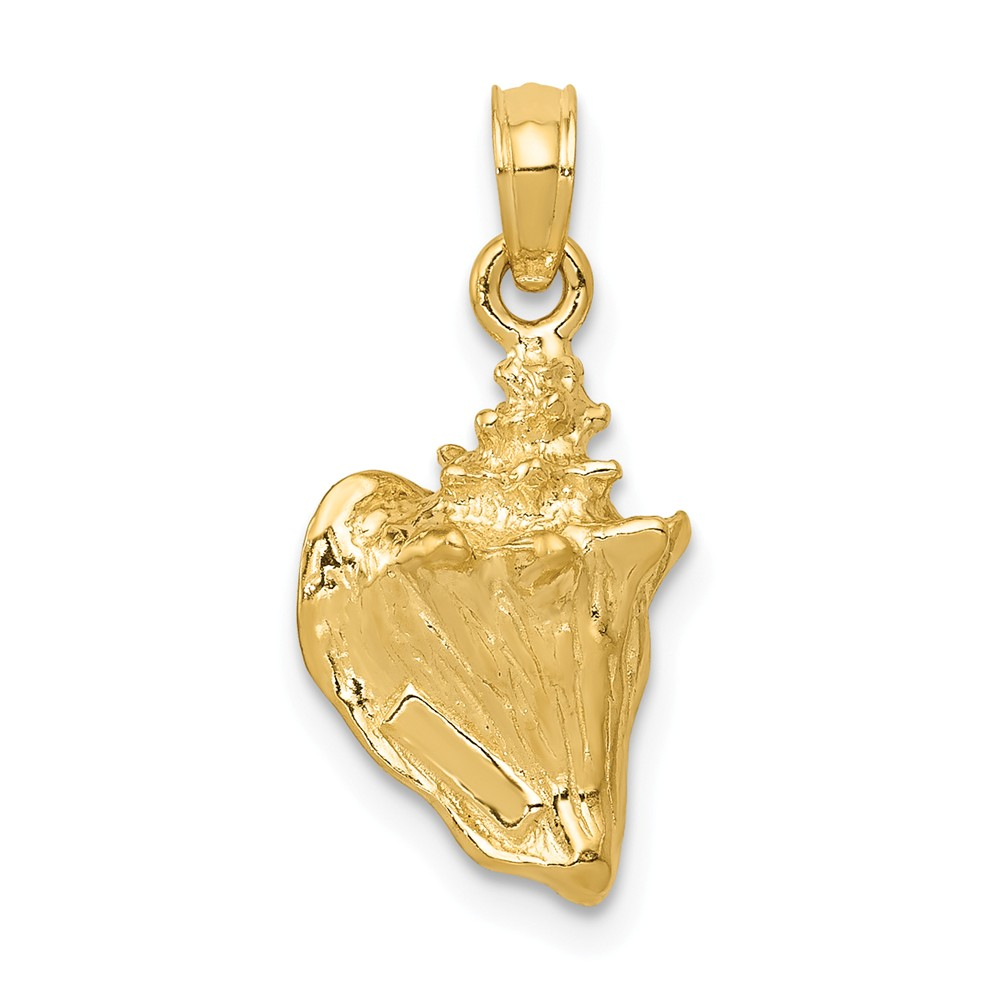 14k Yellow Gold 3-D Conch Shell Pendant