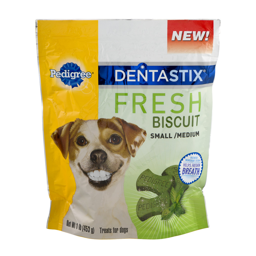 Pedigree DentaStix Fresh Biscuit Small/Medium Treats For Dogs, 1.0 LB
