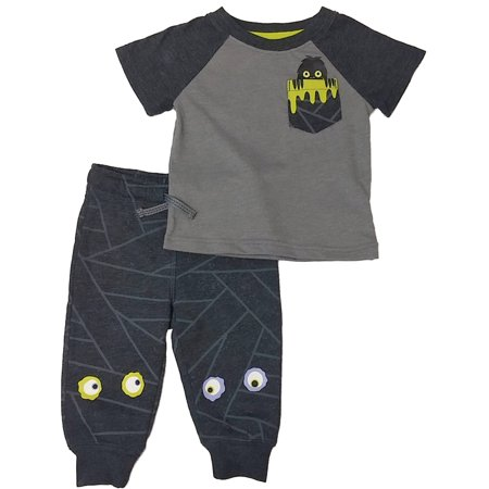 70's Halloween Outfits (Infant Boys Gray Pocket Monster Halloween Outfit Set Spooky Eye Set)