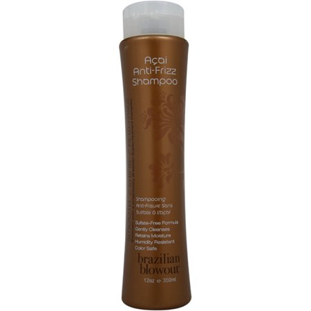 Brazilian Blowout Acai Anti Frizz Shampoo, 12oz (Best Brazilian Blowout Shampoo)
