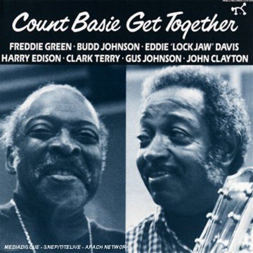 "Personnel: Count Basie (piano); Budd Johnson (tenor & baritone saxophone); Eddie ""Lockjaw"" Davis (tenor saxophone); Clark Terry (trumpet, flugelhorn); Harry ""Sweets"" Edison (trumpet); Freddie Green (guitar); John Clayton (bass); Gus Johnson (drums).<BR>Recorded at Las Vegas Recording Studios, Las Vegas, Nevada, September 4, 1979.  Includes original liner notes by Norman Granz.<BR>Unlike the various Kansas City groups that Basie spearheaded, the Kansas City 8 is the only ensemble where all of the musicians were at one time or another part of Basie's small or large bands. It also represents a spectrum of ages. GET TOGETHER lets us hear the Count's right-hand man, all-around jazz veteran Freddie Green, as well as bassist John Clayton, then a young lion. Most notably, we hear underestimated and sadly overlooked tenor man Budd Johnson, known to players in Basie's era as a crFme de la crFme improviser.<BR>The group shines on ""Ode to Pres,"" where trumpeter Clark Terry plays a bebop-inflected, harmon-muted solo over a 12-bar blues, while the rest of the band sits out. Johnson never received the public accolades afforded to contemporaries such as Ben Webster and Coleman Hawkins, so it's a pleasure to hear him here. On ""Swinging on the Cusp,"" Johnson plays a lyrical and rhythmically diverse baritone solo that leaves little room for development even by the likes of Eddie Davis or Basie himself."