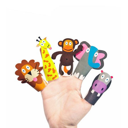 DIY Paper Toy Craft Kit - Make Your Own Finger Puppets (Jungle - Diy Puppets