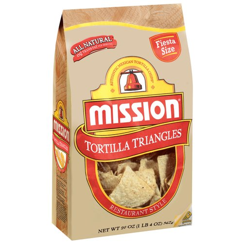 Mission Triangles Restaurant Style Tortilla Chips, 20 oz