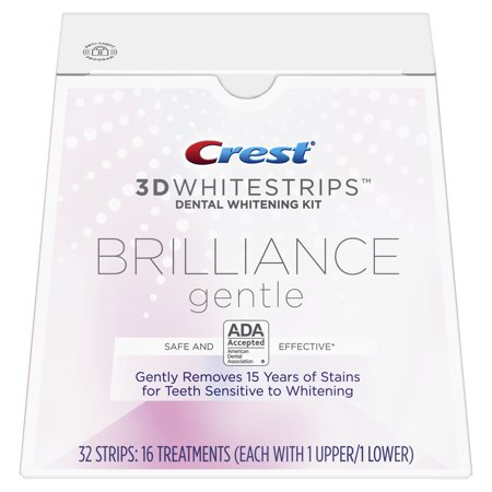 Crest 3D Whitestrips Brilliance Gentle Teeth Whitening Kit, 16