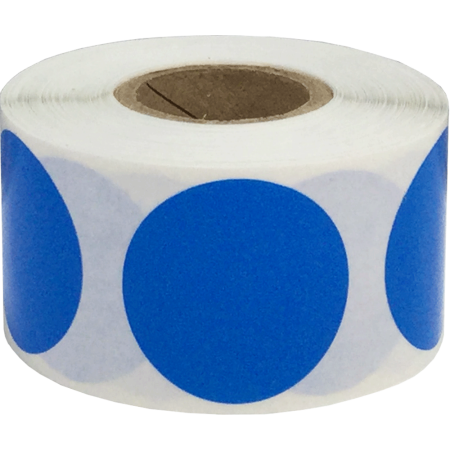 Dot Coupe (Color Coding Labels Blue Round Circle Dots 1 1/4 Inch 500 Total Adhesive)