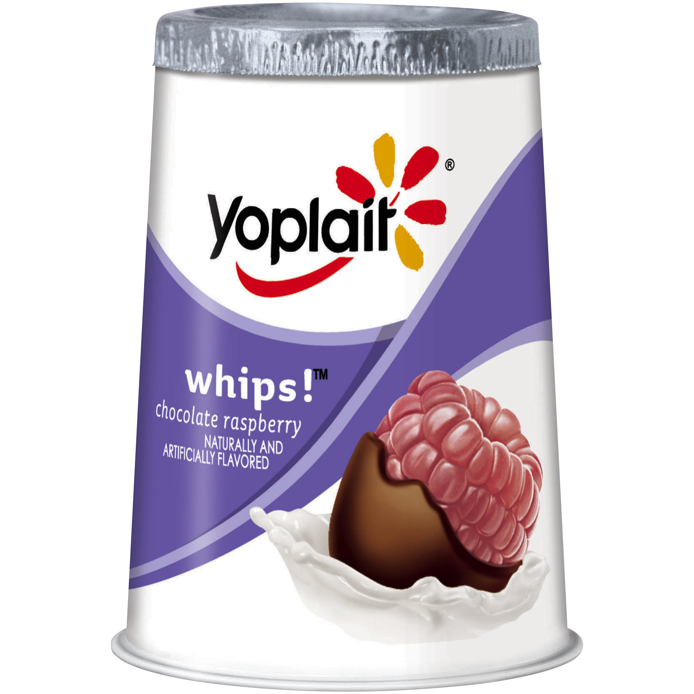 Yoplait® Whips!™ Chocolate Raspberry Yogurt Mousse 4 oz. Cup