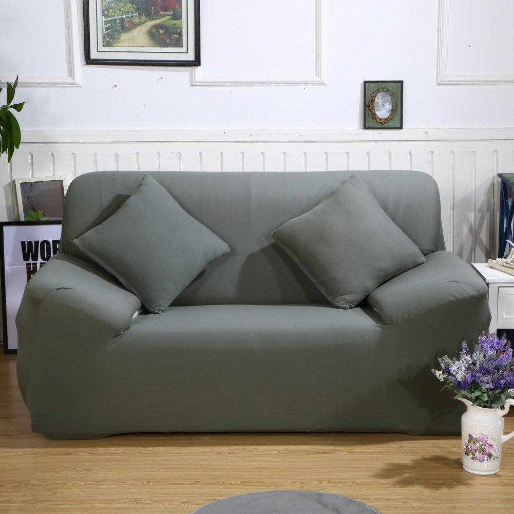 Stretch Fabric Sofa Slipcover 2 3 Seater, Elastic Sectional Sofa Cover  Slipcover Protector Couch Pure