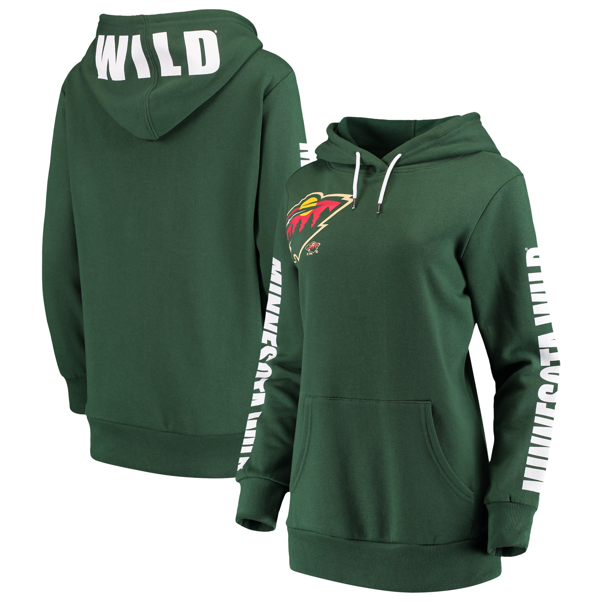 Minnesota Wild G-III 4Her by Carl Banks Women's 12th Inning Pullover Hoodie - Green