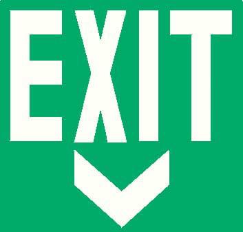 "Exit Sign, Addlight, 8.40, 14""Hx14""W"