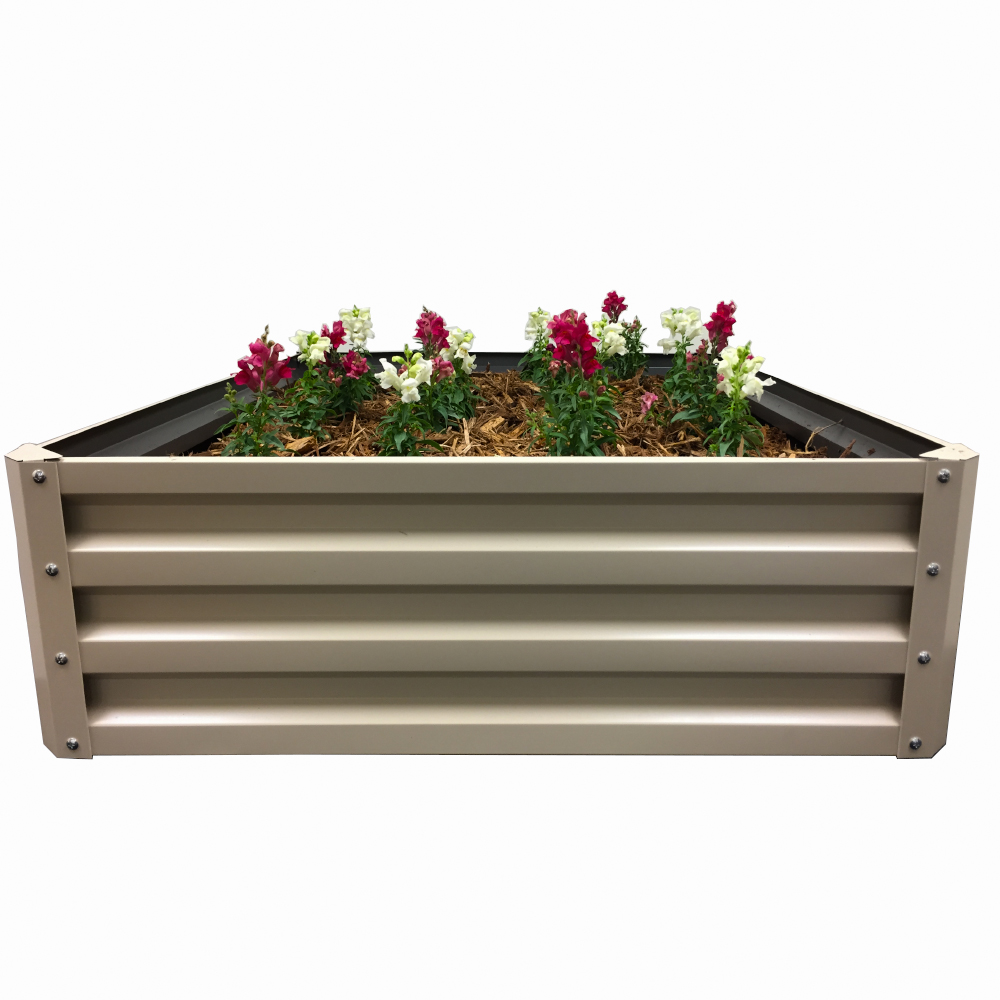 Strawberries Vegetables Greens Stacky High Grade Metal Raised Garden Bed Kit Elevated Planter Box For Growing