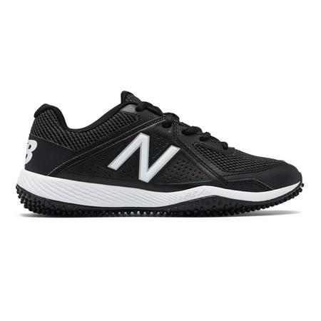 Turbo Shoes - New Balance Kid's 4040v4 Turf Baseball Big Kids Unisex Shoes Black