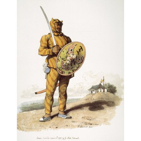 - Chinese Soldier Na Soldier Of The Chinese Infantry Or Tiger Of War Lithograph Published 1797 In London After A Contemporary Watercolor By William Alexander Rolled Canvas Art -  (24 x 36)