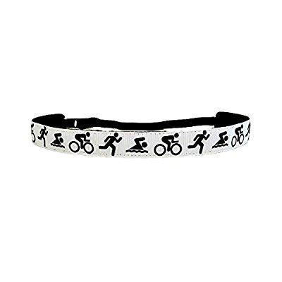 ravebandz exclusive fashion headbands (triathalon) adjustable, non-slip sports & fitness hair bands for women and girls