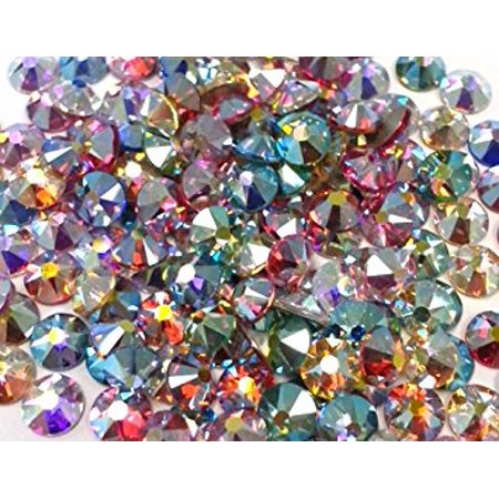 144 SWAROVSKI Crystal Rhinestones FlatBack AB Only MIX (Multi Colored Swarovski Crystal Rhinestone)