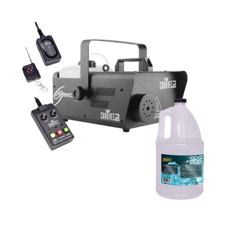 700w Smoke Machine - CHAUVET DJ Hurricane 1600 Pro Fog Smoke Machine w/ Remotes + Fog Fluid | H1600