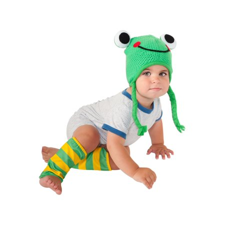Frog Baby Animal Costume Halloween Hat and Leg Warmer Accessories