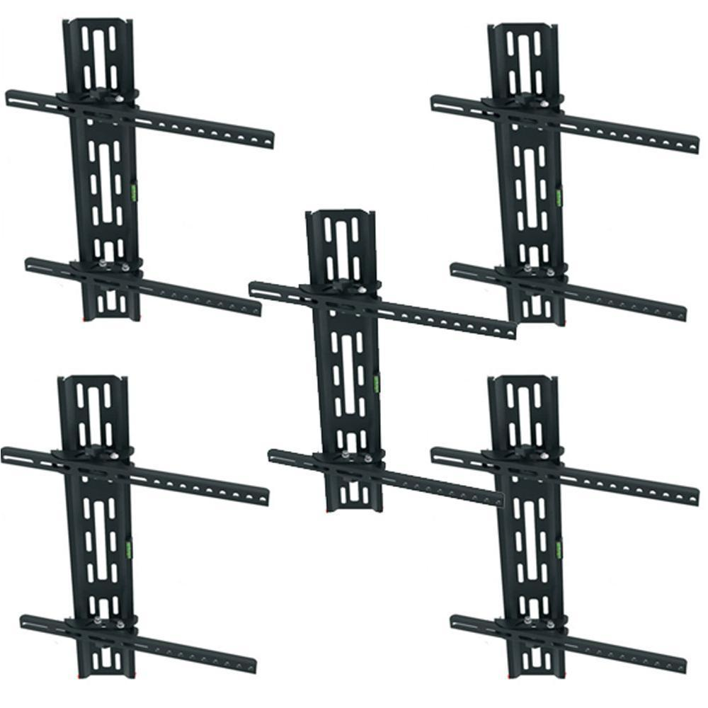Zimtown Lot 5 Tilt 15°TV Wall Mount LED LCD for 32 46 50 60 63 65 TV Display