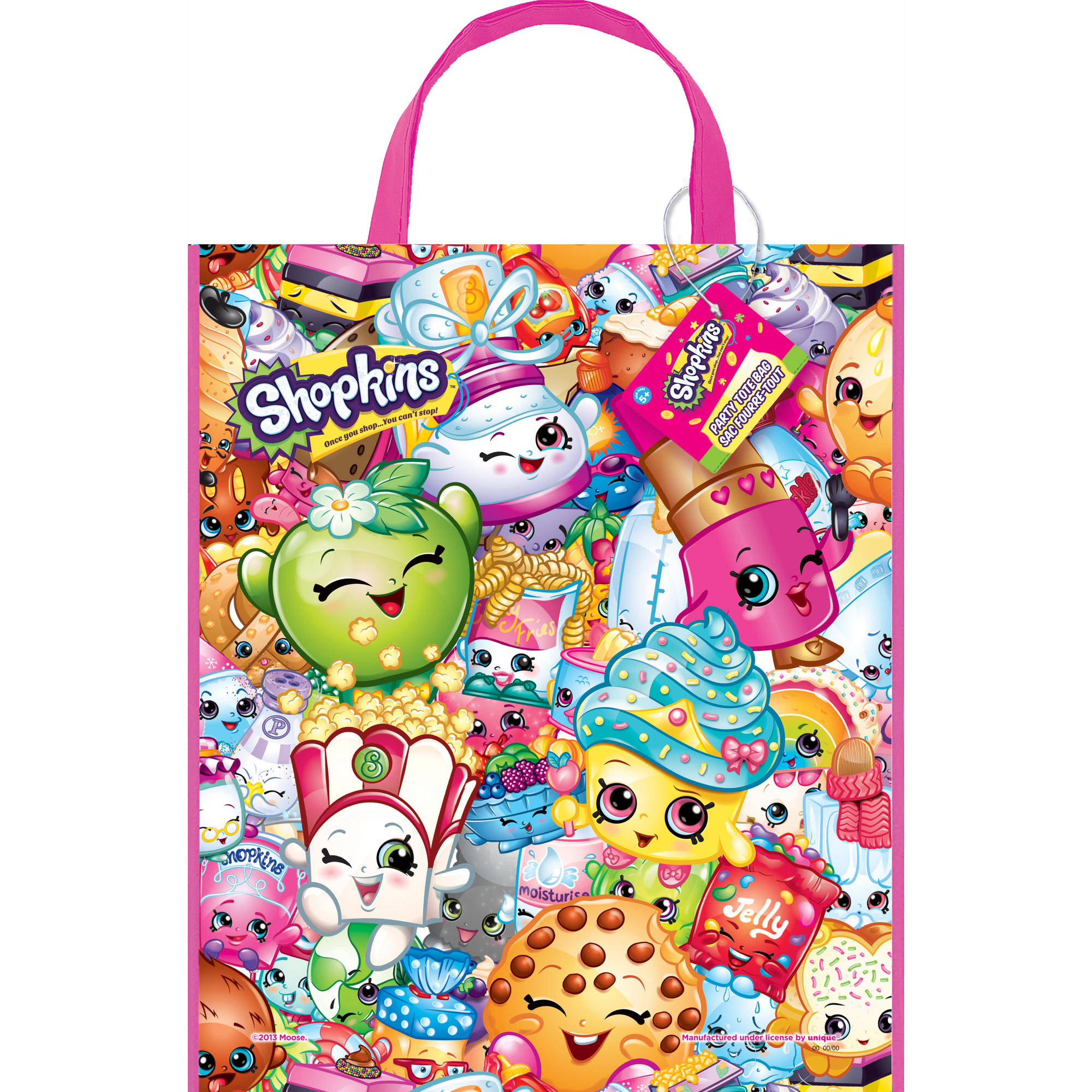 Package of 12 Large Plastic Shopkins Favor Bags