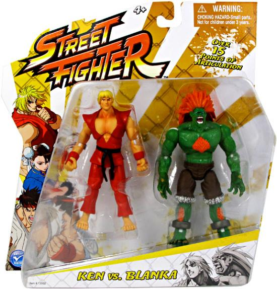Street Fighter Classic Ken Vs. Blanka Action Figure 2-Pack