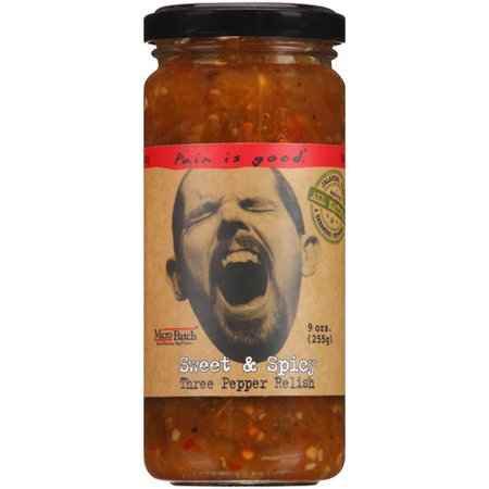 Pain Is Good Sweet & Spicy Three Pepper Relish, 8.5 oz - Walmart.com