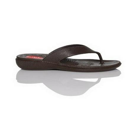 46612dd2681ac2 OKABASHI - OKABASHI NEW Women s Brown Maui Thong Flip Flop Arch Support  Sandals Size (M L) - Walmart.com