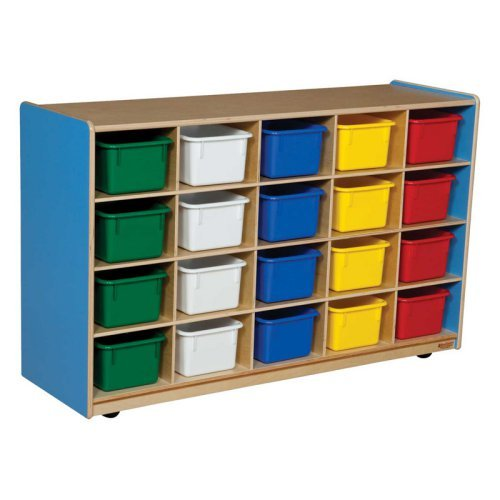 Wood Designs 20 Bin Color Storage