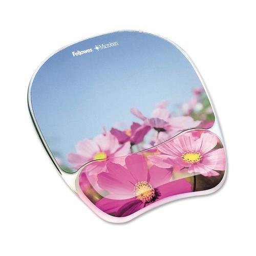 Fellowes Photo Gel Mouse Pad Wrist Rest with Microban Protection FEL9179001