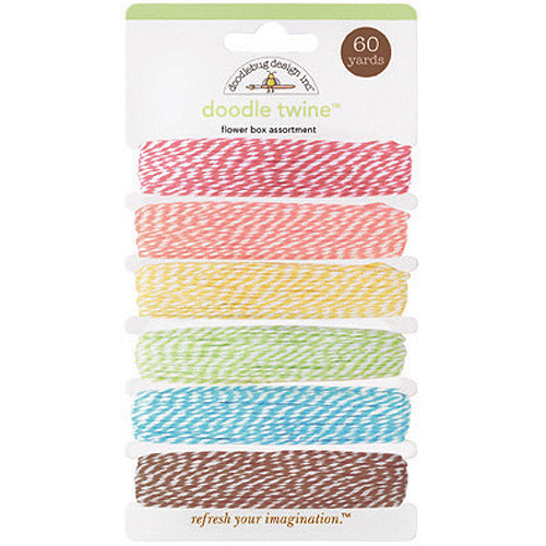 Flower Box Doodle Twine Assortment Pack, 60yds