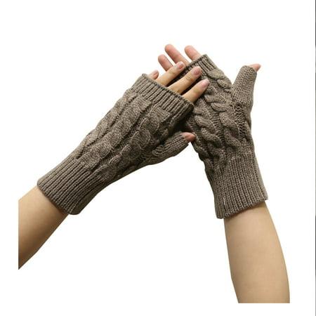 Basico Knit Fingerless Gloves Stripe Arm Warmer Black Striped Arm Warmers