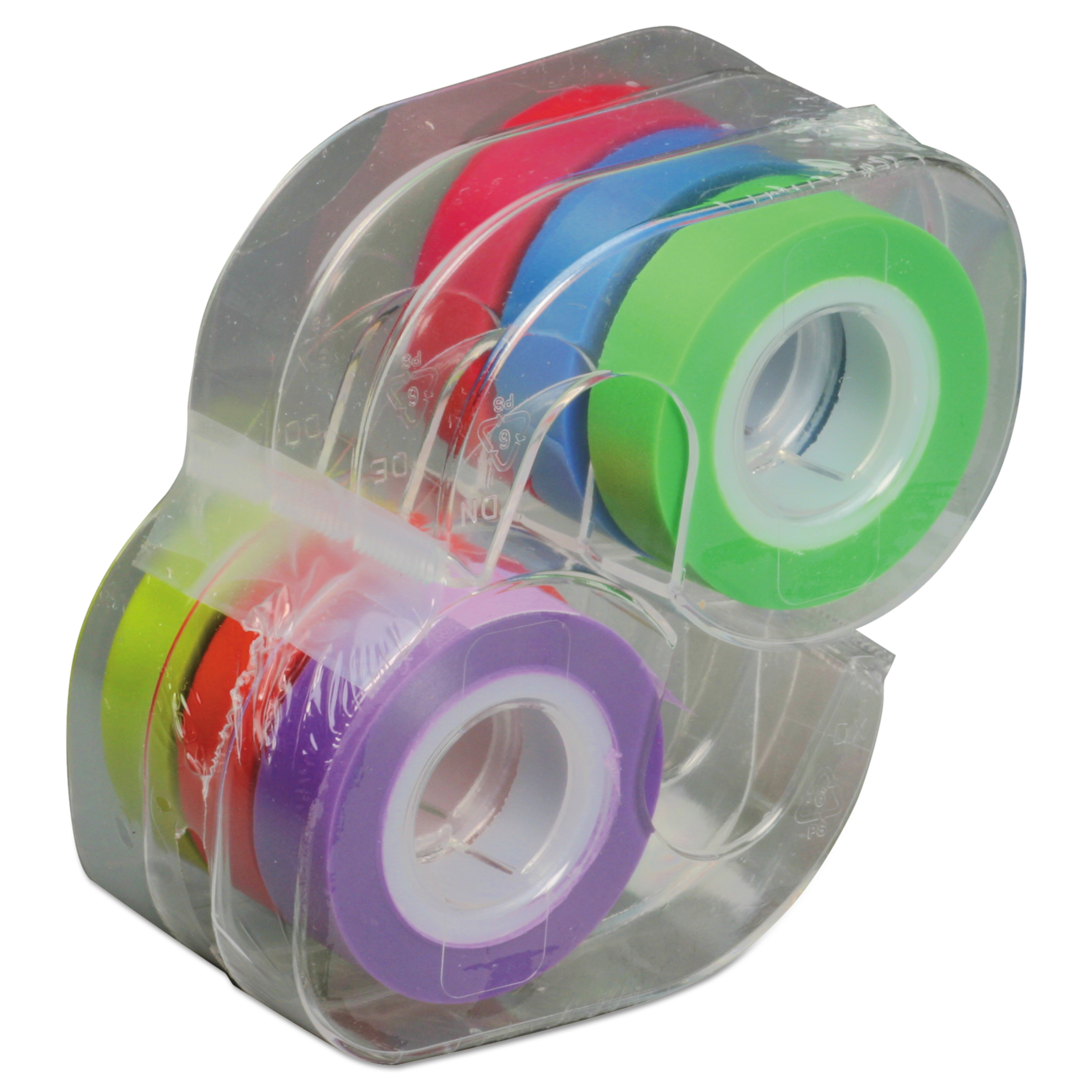 """LEE Removable Highlighter Tape, 1/2"""" X 720"""", Assorted, 6/PK -LEE13888"""