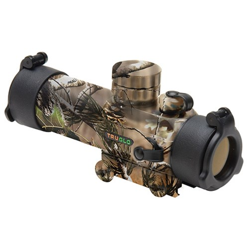TruGlo Dual Color Gobble Stopper Red Dot Hunting Scope, Realtree Camo