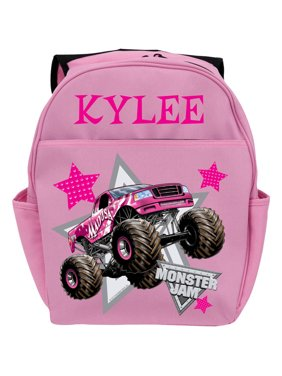Personalized Monster Jam Madusa Pink Youth Backpack