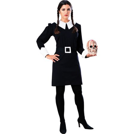 Family Of 3 Costume Ideas (Rubie's Costume Co Addams Family Wednesday Costume for Adults, Includes a Dress with a Collar and a)