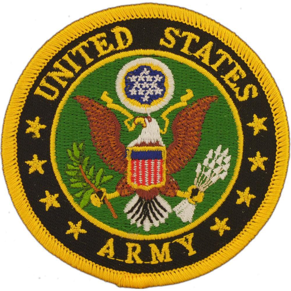 "U.S. Army Logo Patch Green & Yellow 3"""