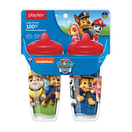 Playtex Sipsters Stage 3 Paw Patrol Boys Insulated Sippy Cup, 9 oz, 2 pk