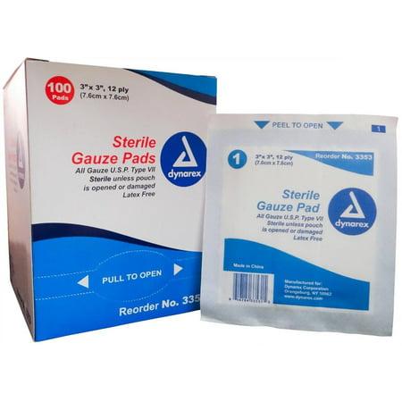 Sterile Gauze Pads by Dynarex, 3