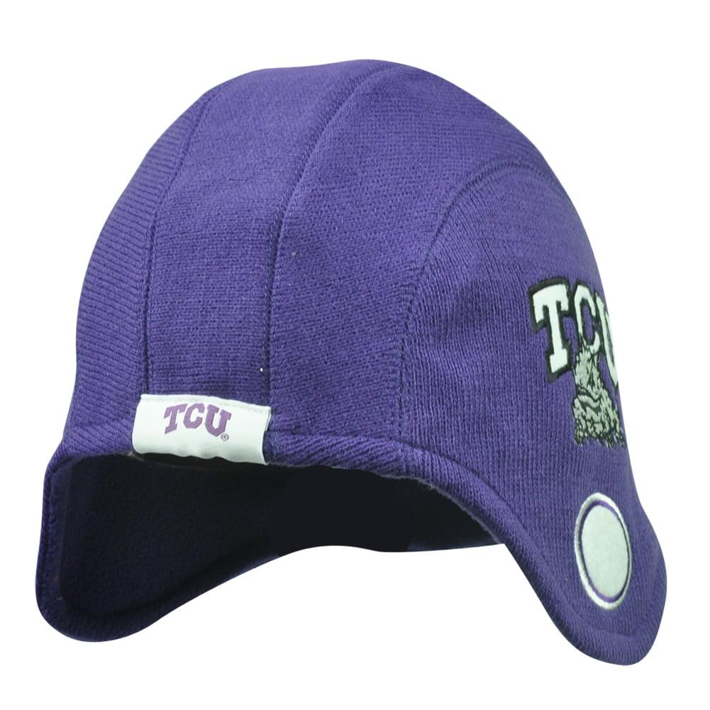 NCAA Texas Christian Horned Frogs Game Day Helmet Beanie Knit Skully Hat Purple by Fan Favorite