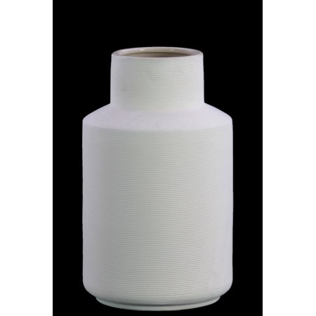 Accented White Ceramic (Urban Trends Collection: Ceramic Vase Coated Finish)