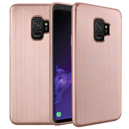 Samsung Galaxy S9 Case, by Insten Brushed Hard Snap-in Case Cover For Samsung Galaxy S9 - Rose Gold