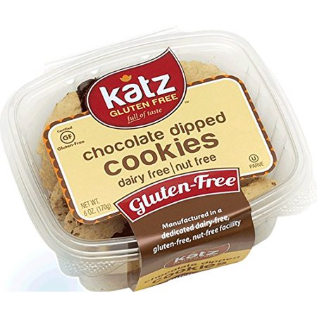 Katz Gluten Free Chocolate Dipped Cookies  6 Ounce  Certified Gluten Free   Kosher   Dairy   Nut Free  Pack Of 1