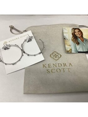Kendra Scott Rhoan Earrings in Rhodium Gray Crystal