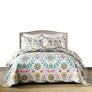 Lightweight Ethnic Printed Warm Soft Bedspread Coverlet Set Queen King Bedding